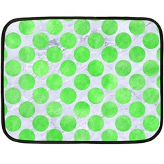 Circles2 White Marble & Green Watercolor (r) Fleece Blanket (mini)