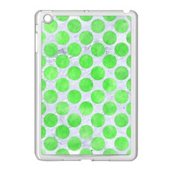 Circles2 White Marble & Green Watercolor (r) Apple Ipad Mini Case (white)