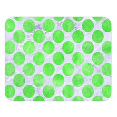 Circles2 White Marble & Green Watercolor (r) Double Sided Flano Blanket (large)  by trendistuff