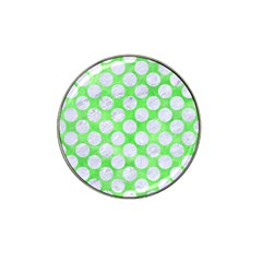 Circles2 White Marble & Green Watercolor Hat Clip Ball Marker (4 Pack)