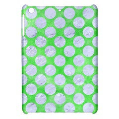 Circles2 White Marble & Green Watercolor Apple Ipad Mini Hardshell Case