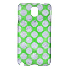Circles2 White Marble & Green Watercolor Samsung Galaxy Note 3 N9005 Hardshell Case