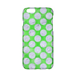 Circles2 White Marble & Green Watercolor Apple Iphone 6/6s Hardshell Case