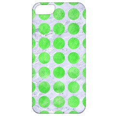 Circles1 White Marble & Green Watercolor (r) Apple Iphone 5 Classic Hardshell Case