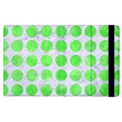 Circles1 White Marble & Green Watercolor (r) Apple Ipad 3/4 Flip Case