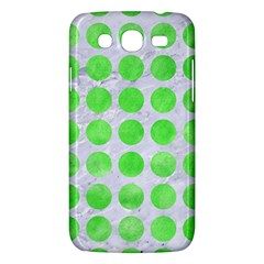 Circles1 White Marble & Green Watercolor (r) Samsung Galaxy Mega 5 8 I9152 Hardshell Case