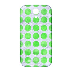 Circles1 White Marble & Green Watercolor (r) Samsung Galaxy S4 I9500/i9505  Hardshell Back Case