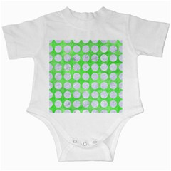 Circles1 White Marble & Green Watercolor Infant Creepers