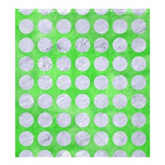 Circles1 White Marble & Green Watercolor Shower Curtain 66  X 72  (large)  by trendistuff