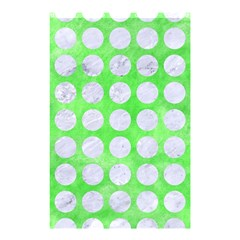 Circles1 White Marble & Green Watercolor Shower Curtain 48  X 72  (small)
