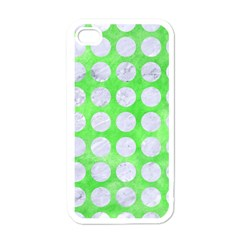 Circles1 White Marble & Green Watercolor Apple Iphone 4 Case (white)