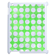 Circles1 White Marble & Green Watercolor Apple Ipad 2 Case (white) by trendistuff