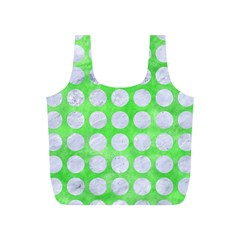 Circles1 White Marble & Green Watercolor Full Print Recycle Bags (s)