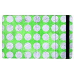 Circles1 White Marble & Green Watercolor Apple Ipad Pro 9 7   Flip Case