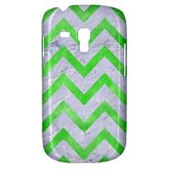 Chevron9 White Marble & Green Watercolor (r) Samsung Galaxy S3 Mini I8190 Hardshell Case