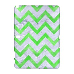 Chevron9 White Marble & Green Watercolor (r) Samsung Galaxy Note 10 1 (p600) Hardshell Case