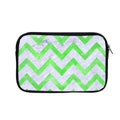 Chevron9 White Marble & Green Watercolor (r) Apple Macbook Pro 13  Zipper Case