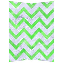 Chevron9 White Marble & Green Watercolor (r) Back Support Cushion