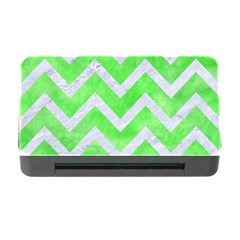 Chevron9 White Marble & Green Watercolor Memory Card Reader With Cf