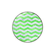 Chevron3 White Marble & Green Watercolor Hat Clip Ball Marker (10 Pack)