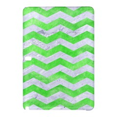 Chevron3 White Marble & Green Watercolor Samsung Galaxy Tab Pro 10 1 Hardshell Case