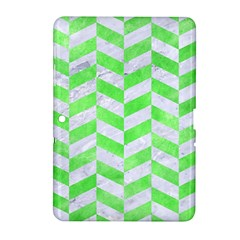 Chevron1 White Marble & Green Watercolor Samsung Galaxy Tab 2 (10 1 ) P5100 Hardshell Case