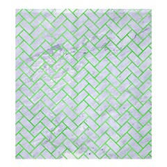 Brick2 White Marble & Green Watercolor (r) Shower Curtain 66  X 72  (large)  by trendistuff