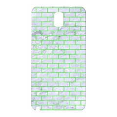 Brick1 White Marble & Green Watercolor (r) Samsung Galaxy Note 3 N9005 Hardshell Back Case