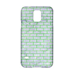 Brick1 White Marble & Green Watercolor (r) Samsung Galaxy S5 Hardshell Case