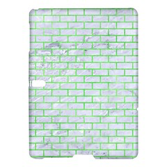 Brick1 White Marble & Green Watercolor (r) Samsung Galaxy Tab S (10 5 ) Hardshell Case