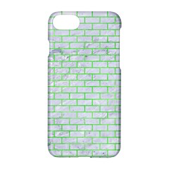 Brick1 White Marble & Green Watercolor (r) Apple Iphone 7 Hardshell Case by trendistuff