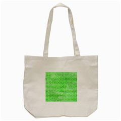 Brick1 White Marble & Green Watercolor Tote Bag (cream)