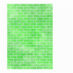 Brick1 White Marble & Green Watercolor Small Garden Flag (two Sides)