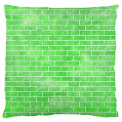Brick1 White Marble & Green Watercolor Large Cushion Case (two Sides)