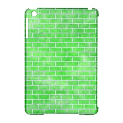 Brick1 White Marble & Green Watercolor Apple Ipad Mini Hardshell Case (compatible With Smart Cover)