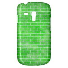 Brick1 White Marble & Green Watercolor Samsung Galaxy S3 Mini I8190 Hardshell Case