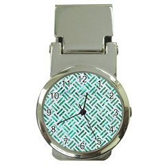 Woven2 White Marble & Green Marble (r) Money Clip Watches