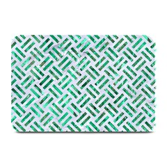 Woven2 White Marble & Green Marble (r) Plate Mats