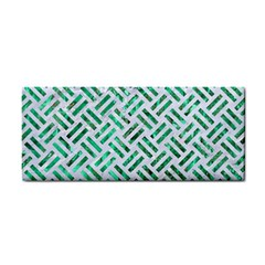 Woven2 White Marble & Green Marble (r) Hand Towel