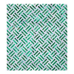 Woven2 White Marble & Green Marble (r) Shower Curtain 66  X 72  (large)