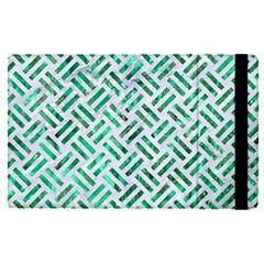 Woven2 White Marble & Green Marble (r) Apple Ipad Pro 12 9   Flip Case