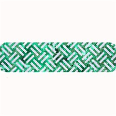 Woven2 White Marble & Green Marble Large Bar Mats