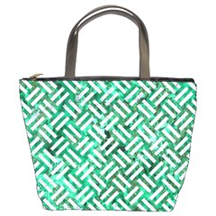 Woven2 White Marble & Green Marble Bucket Bags