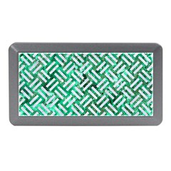Woven2 White Marble & Green Marble Memory Card Reader (mini)