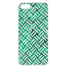 Woven2 White Marble & Green Marble Apple Iphone 5 Seamless Case (white)