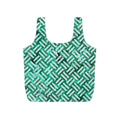Woven2 White Marble & Green Marble Full Print Recycle Bags (s)