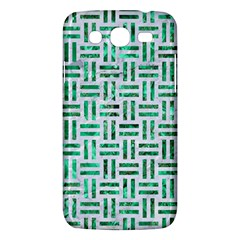 Woven1 White Marble & Green Marble (r) Samsung Galaxy Mega 5 8 I9152 Hardshell Case