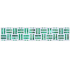 Woven1 White Marble & Green Marble (r) Large Flano Scarf