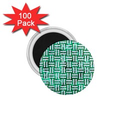 Woven1 White Marble & Green Marble 1 75  Magnets (100 Pack)