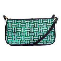 Woven1 White Marble & Green Marble Shoulder Clutch Bags
